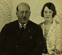 Ben and Adelaide Reynolds' passport picture