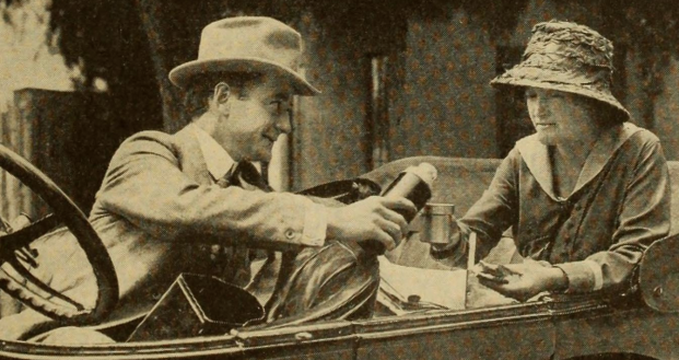 Baldwin took occasional breaks (on location with Pierson, 1917)