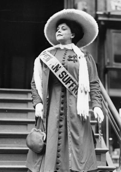 Trixie Friganza, 1908 (yes, she was a real suffragist!)