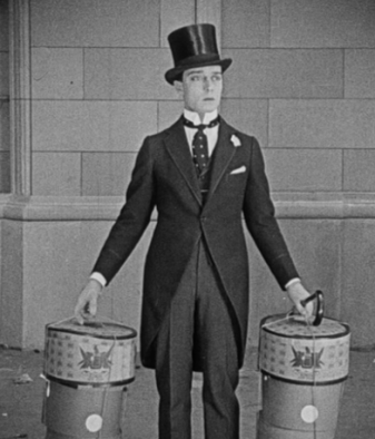 Keaton in 'kippie' clothes...