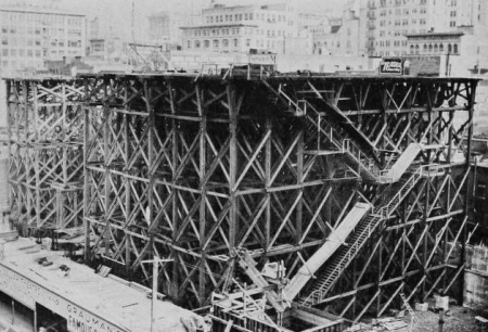 Metropolitan Theater under construction....