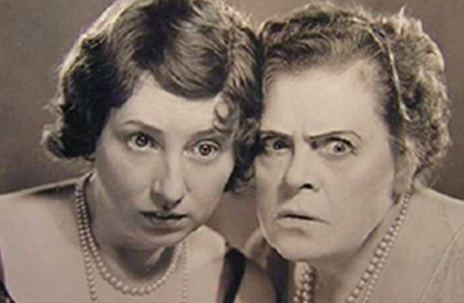 Polly Moran and Marie Dressler