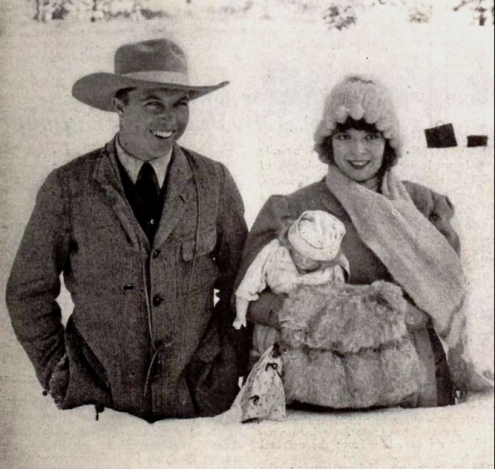 King Vidor and Colleen Moore, on location