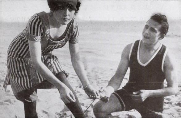 Ruth Roland's preferred swimwear, 1913